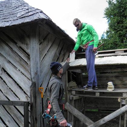 Mazā jumta klopēšana jūnijā